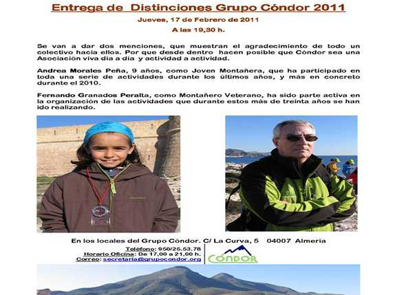 Entrega de Distinciones Grupo Cóndor 2011
