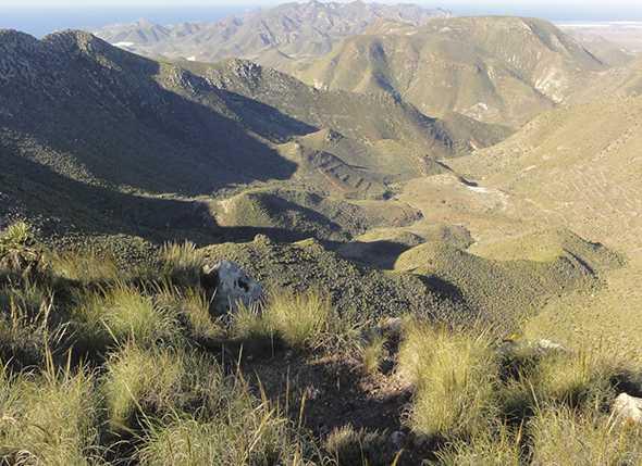 Itinerario de Montañismo por el Parque Natural de Cabo de Gata: