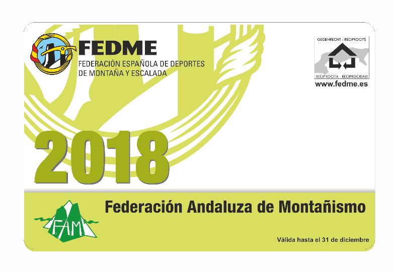 TRAMITACIÓN DE LAS LICENCIAS FEDERATIVAS DE MONTAÑISMO 2018