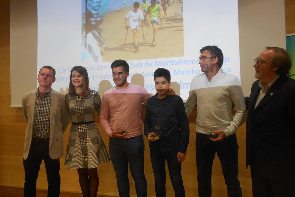 Reconocimiento de la Delegación Almeriense de Montañismo, en la II Gala de este deporte en nuestra provincia, al Club de Montañismo Cóndor por su labor en la promoción de la Marcha Nórdica.