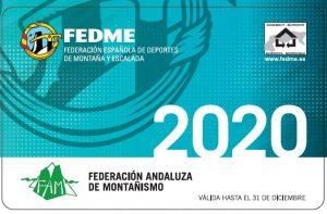 TRAMITACIÓN DE LAS LICENCIAS FEDERATIVAS DE MONTAÑISMO 2020