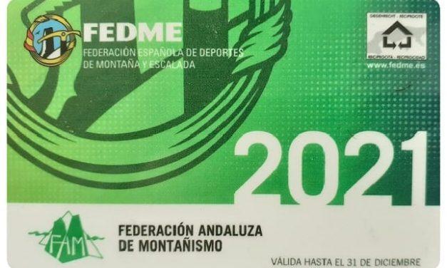 TRAMITACIÓN DE LAS LICENCIAS FEDERATIVAS DE MONTAÑISMO 2021